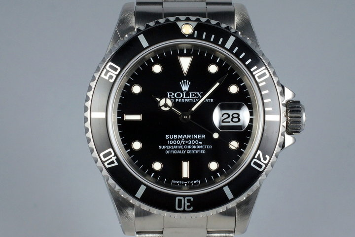 1995 Rolex Submariner 16610 with RSC Papers photo