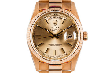 1999 Rolex YG Day-Date 18238 with Rosy Patina photo