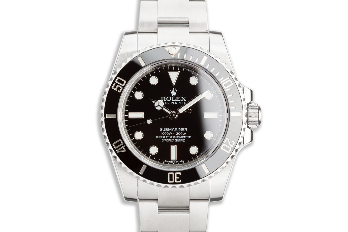 2017 Rolex Submariner 114060 with Box & Card photo, #0