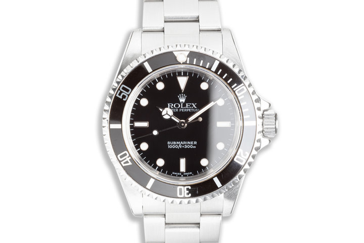2002 Rolex Submariner 14060m with Service Card photo