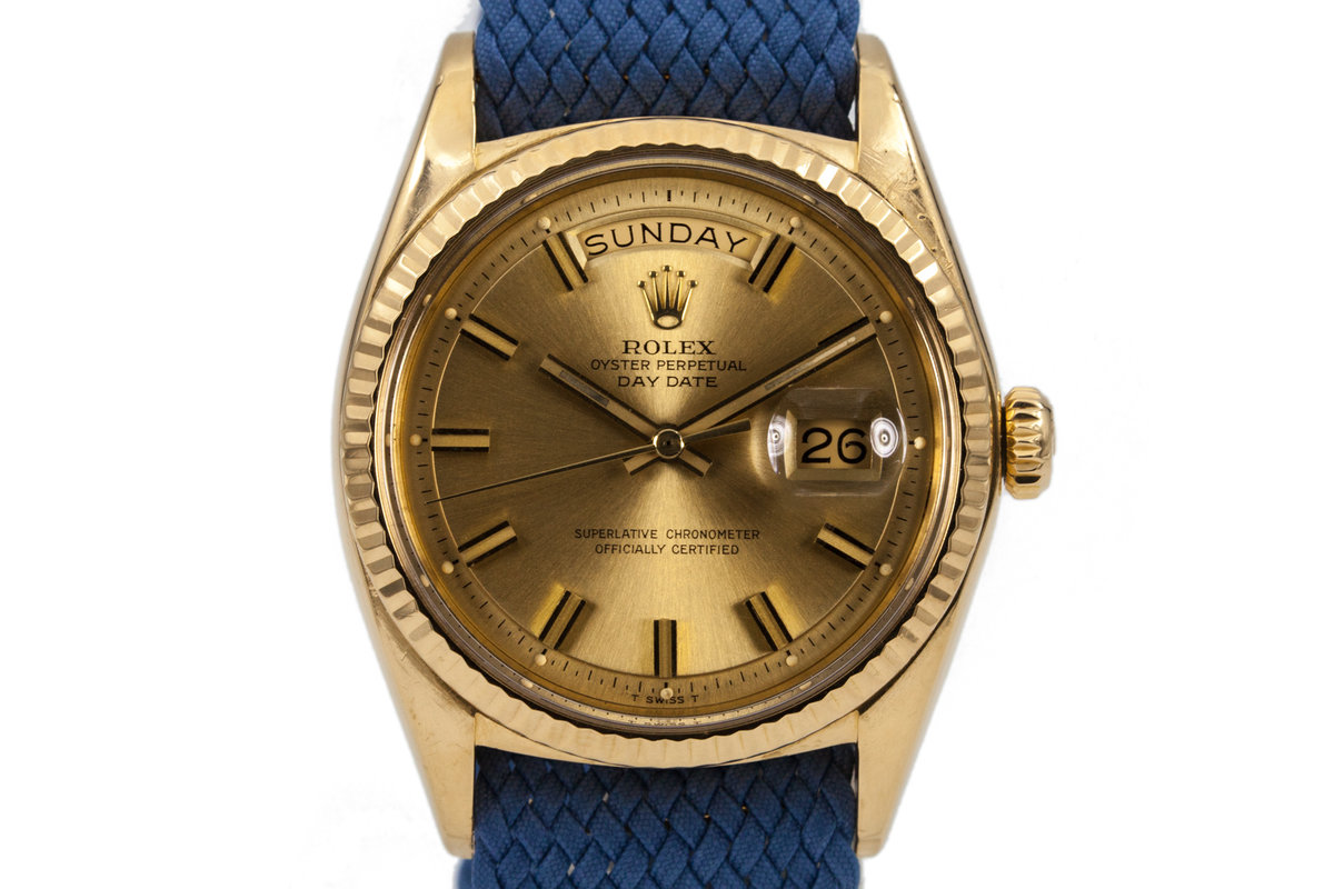1970 Rolex YG Day-Date 1803 Champagne 'Wide Boy' Dial photo, #0