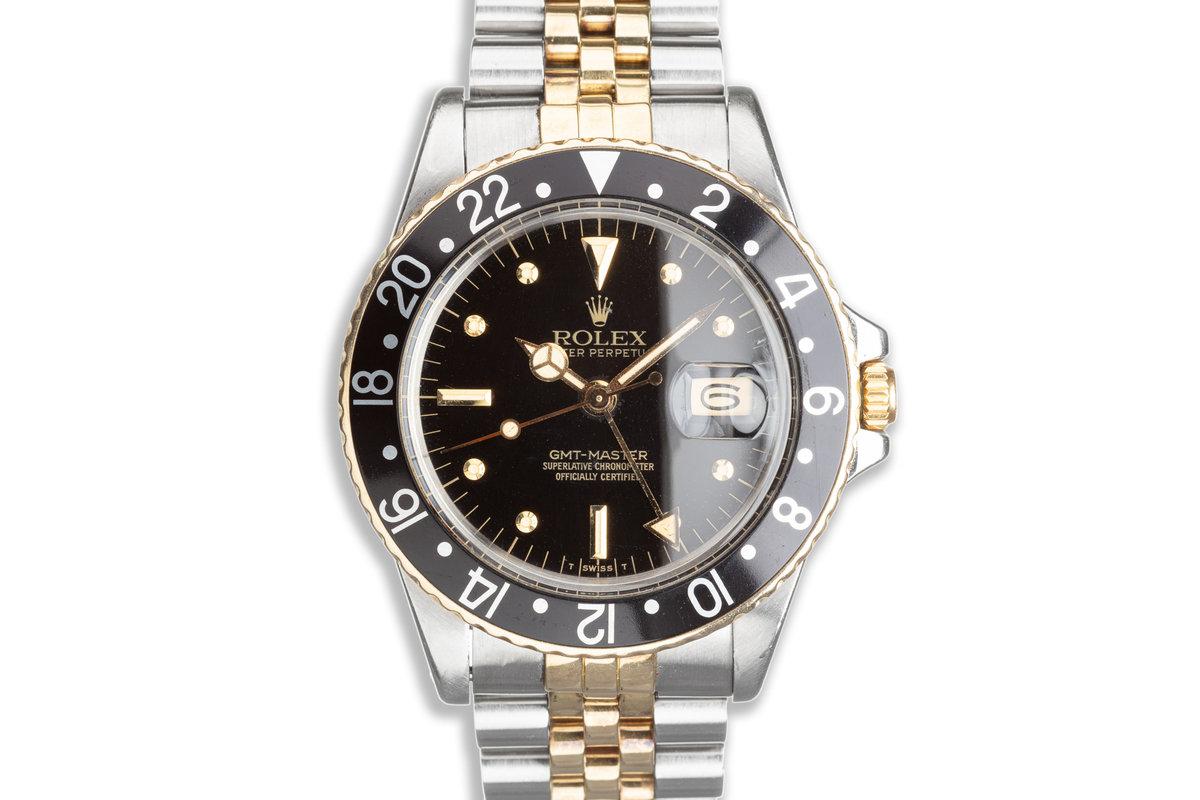 1979 Vintage Rolex 14K & Stainless GMT-Master 16753 photo, #0