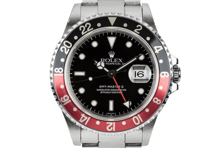 "1998 Rolex GMT-Master II 16710 with ""Coke Bezel Insert photo"