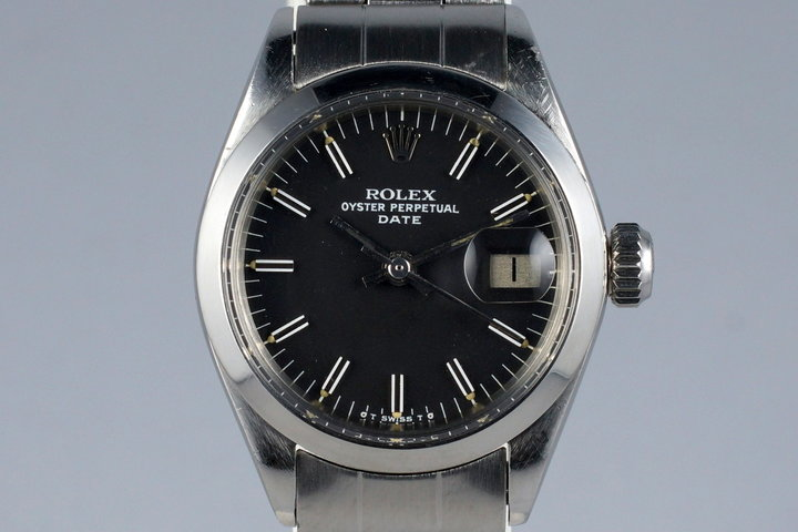 1972 Rolex Ladies Date 6916 Black Sigma Dial photo
