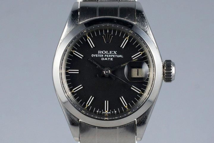 1972 Rolex Ladies Date 6916 Black Sigma Dial photo
