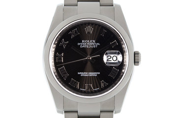 Rolex Datejust 116200 Black Sunburst Dial photo
