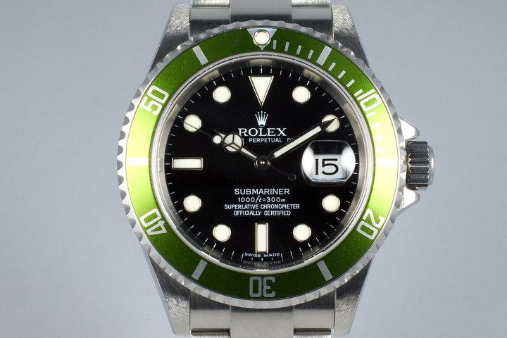 2006 Rolex Green Submariner 16610LV photo