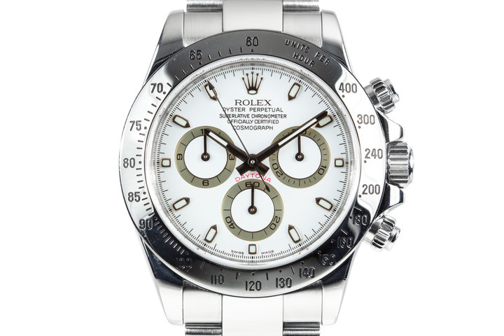 2007 Rolex Daytona 116520 White Dial with Box and Purchase Papers photo
