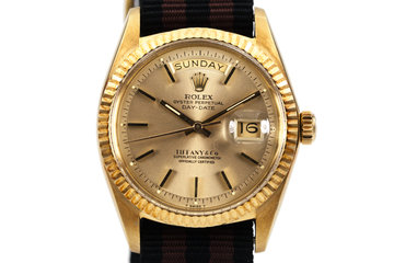 1970 Rolex YG Day-Date 1803 Champagne Dial with Tiffany and Co Dial photo