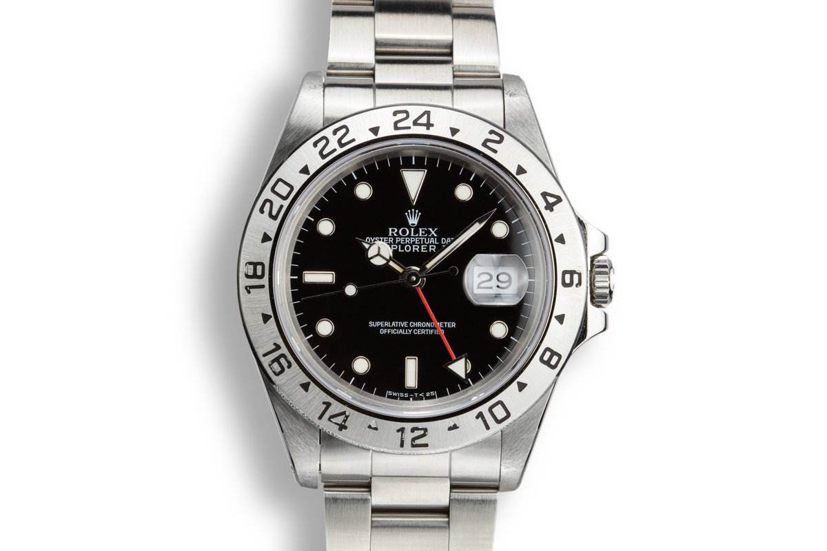 1990 Rolex Explorer II 16570 Black Dial photo, #0