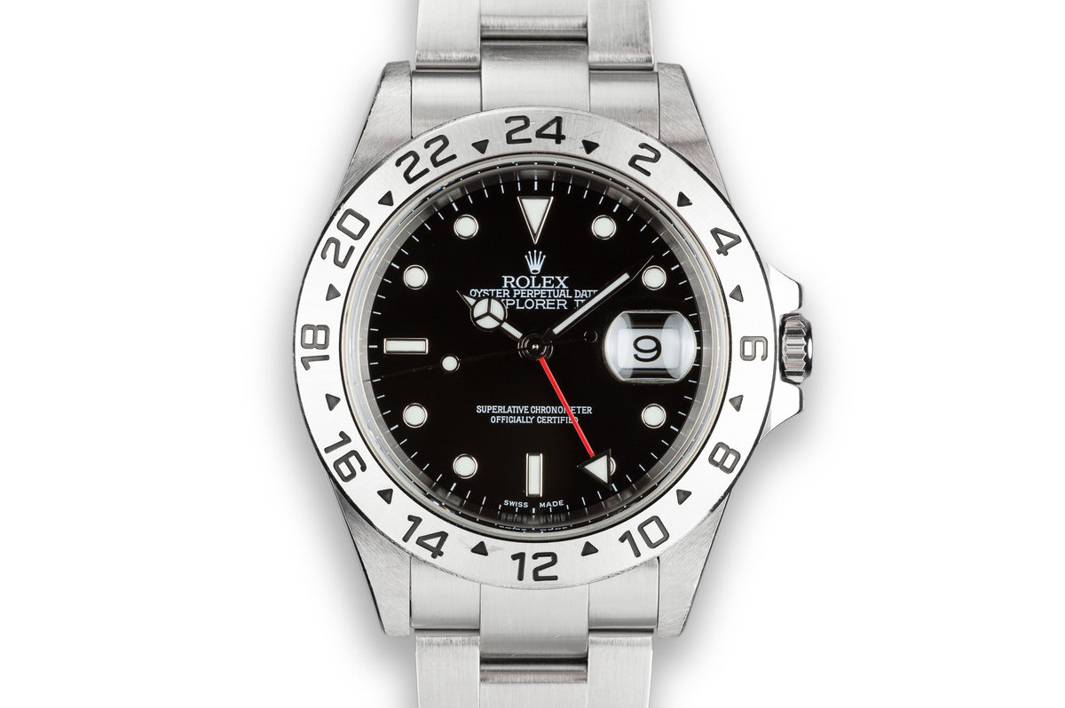 2002 Rolex Explorer II 16570 Black Dial with Box and Papers sold at Serpico Y Laino photo, #0