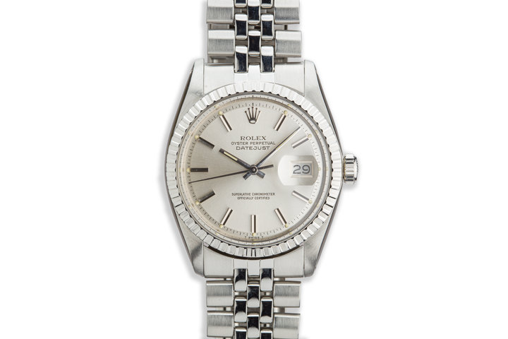 1977 Vintage Rolex DateJust 1603 Silver Dial photo