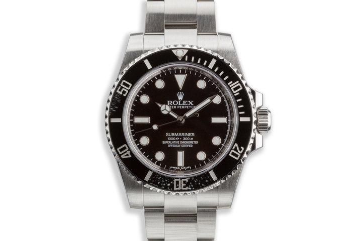 2017 Rolex Submariner 114060 with Box and Card photo