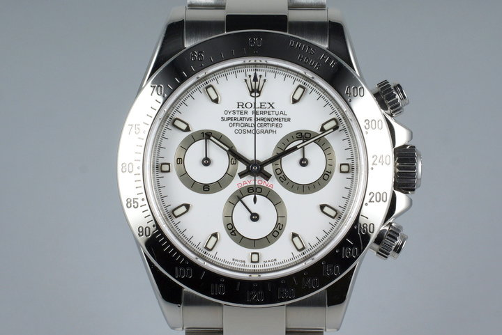 2002 Rolex Daytona 116520 White Dial with Box and Papers photo