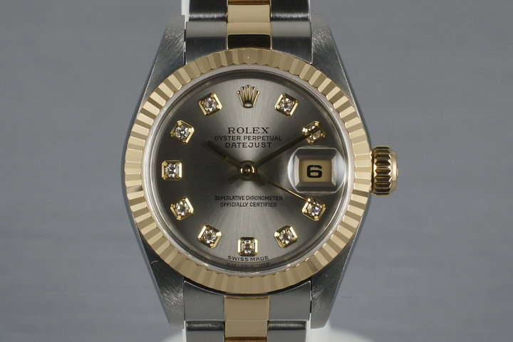 2002 Ladies Two Tone Rolex Datejust 79173 with Factory Diamond Dial photo