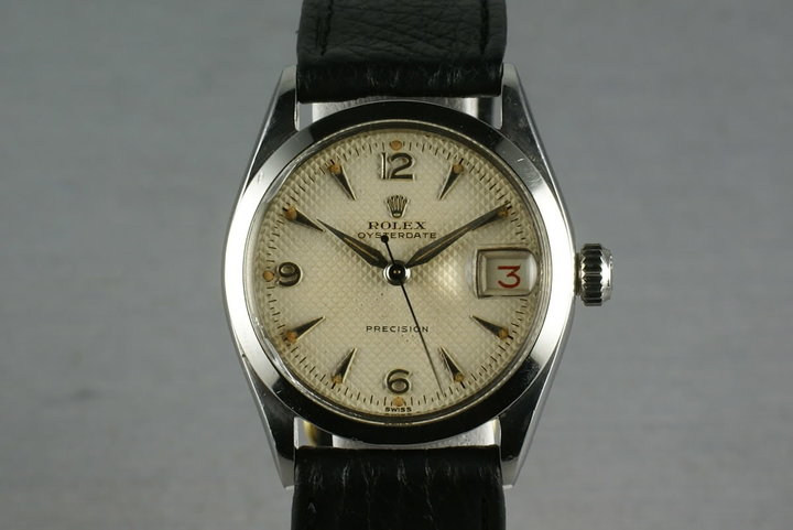 Rolex Oysterdate precision 6266 White Waffle Dial photo