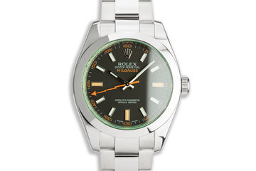 2009 Rolex Milgauss 116400GV Black Dial with Box & Card photo