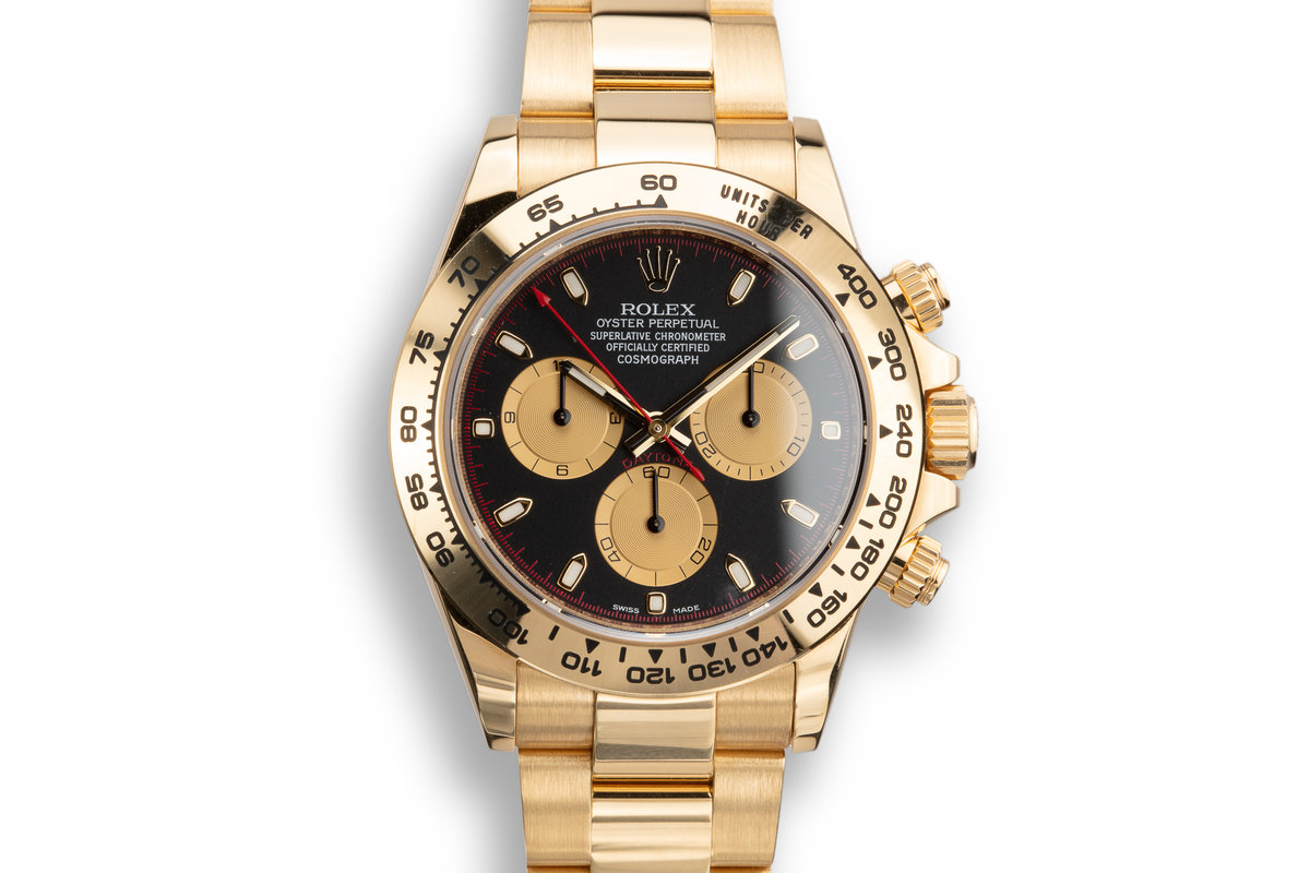 2018 Rolex 18K YG Daytona 116508 Black Dial with Box and Papers photo, #0