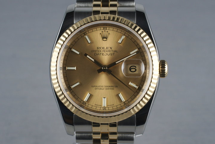 2007 Two Tone Datejust 116233 with Box and Papers photo