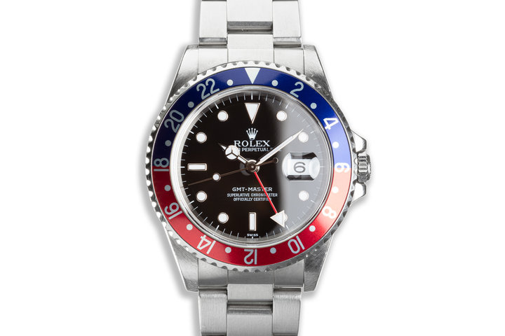 """1998 Unpolished Rolex GMT-Master 16700 """"Pepsi"""" with Box & Papers photo"""