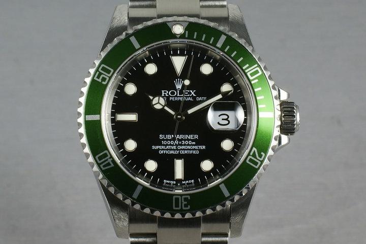 Rolex Green Submariner 16610 LV Mark 1 dial photo