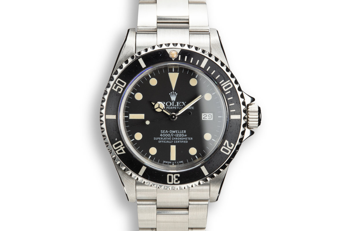 1982 Rolex Sea-Dweller 16660 Matte Dial with Rolex Service Papers photo, #0