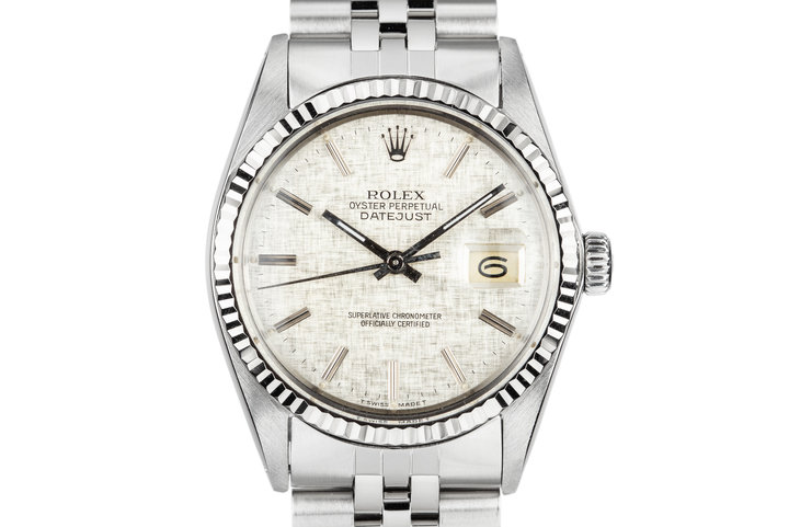 1984 Rolex DateJust 16014 Silver Linen Dial photo