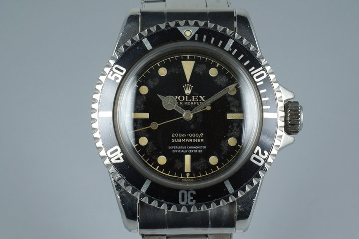 1961 Rolex Submariner 5512 PCG Gilt 4 Line Chapter Ring Dial photo