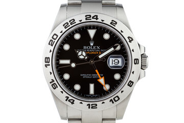 2012 Rolex Explorer II 216570 Black Dial with Box and Papers photo
