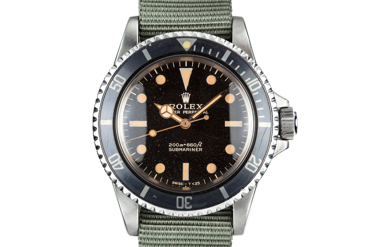 1967 Rolex Submariner 5513 with Meters First Gilt Dial photo, #0