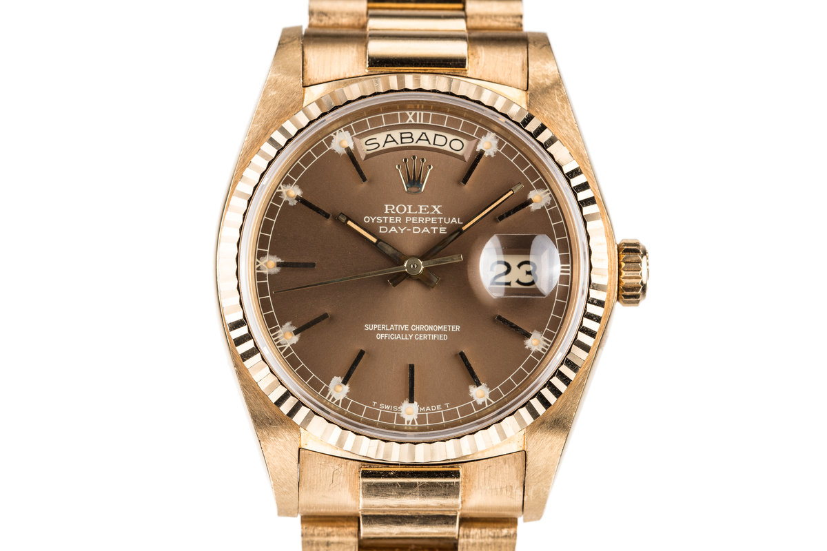 1979 Rolex Day-Date 18038 with Brown Dial photo, #0