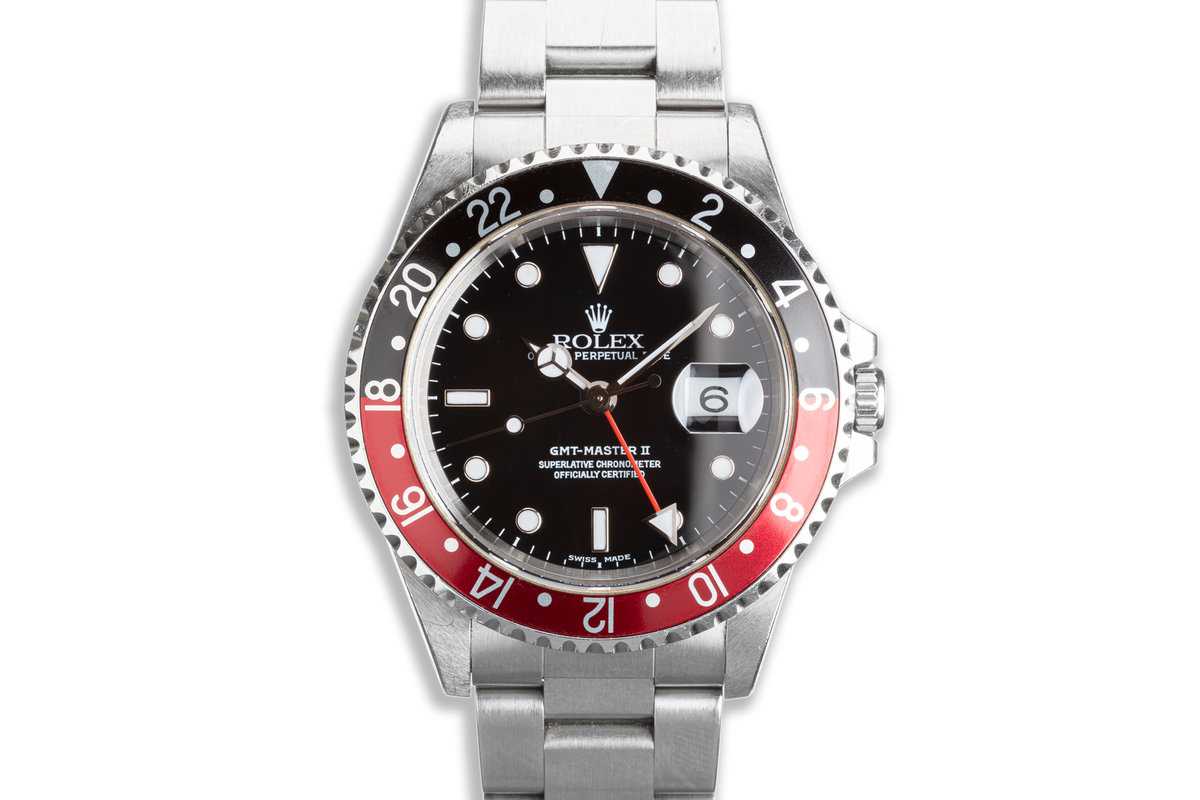 1999 Unpolished Rolex GMT-Master II 16710 Coke Bezel with Box & Papers photo, #0