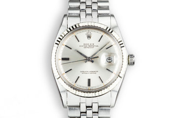 1973 Rolex DateJust 1601 Silver Dial photo