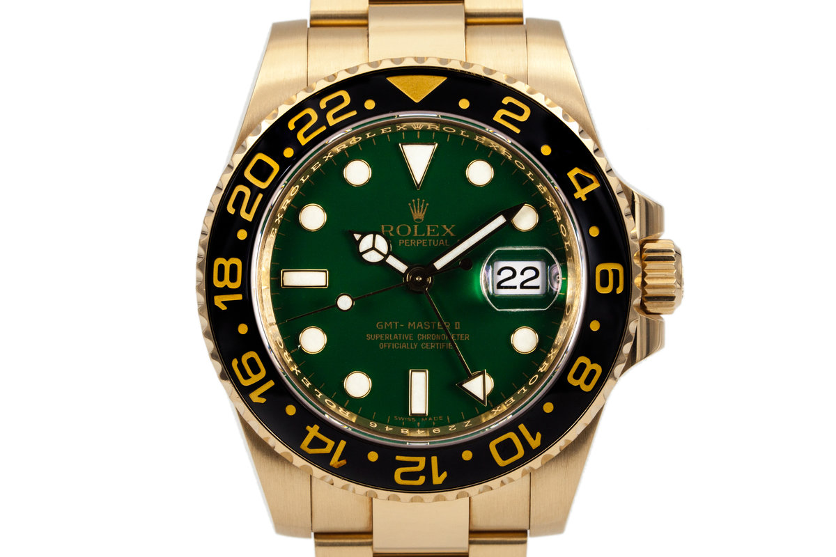 2009 Ceramic GMT 18K GREEN Dial 116718 with Box and Papers photo, #0