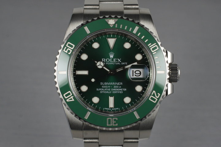 2010 Rolex Green Submariner 116610V with Box and Papers photo