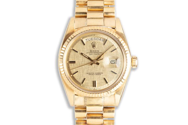 1973 Rolex Day Date 1803 Linen Pie Pan Sigma Dial photo
