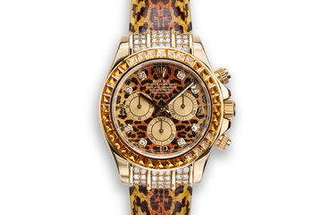 2001 Rolex 18K YG Leopard Daytona 116598 photo