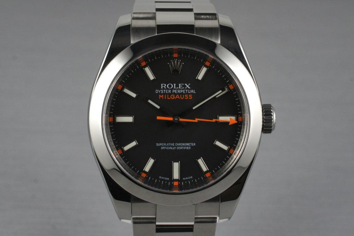 HQ Milton , 2007 Rolex Milgauss Black Dial 116400 with Box