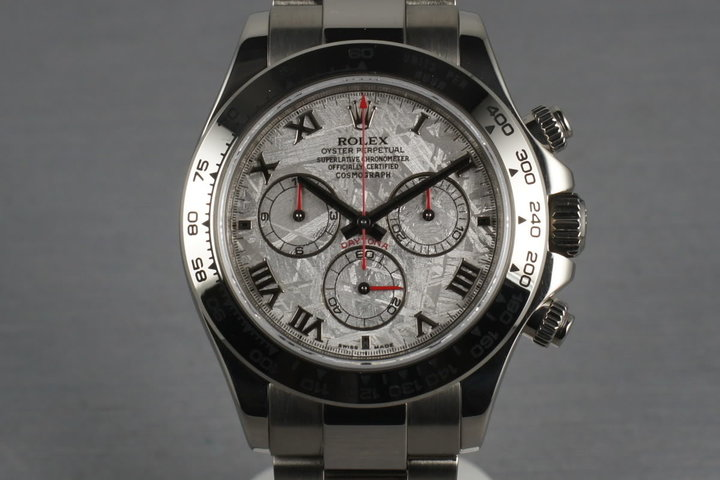 Rolex WG Daytona 116509 Box and Papers and Meteorite Dial photo
