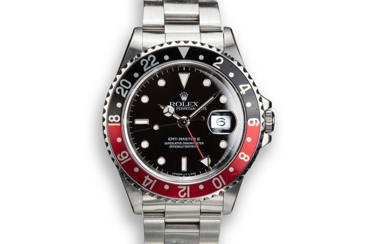"1995 Rolex GMT-Master II 16710 ""Coke"" with Papers and Service Papers photo"