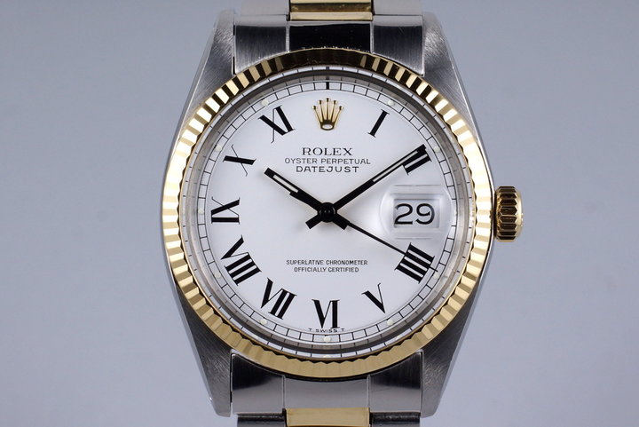 1971 Rolex Two Tone DateJust 1601 with White Roman Dial photo