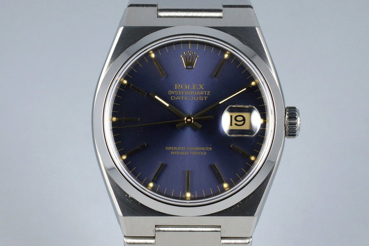 1980 Rolex OysterQuartz Datejust 17000 with Box and Papers photo