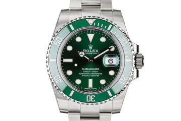 "2018 Mint Rolex Green Submariner 116610LV ""Hulk"" with Box and Papers photo"