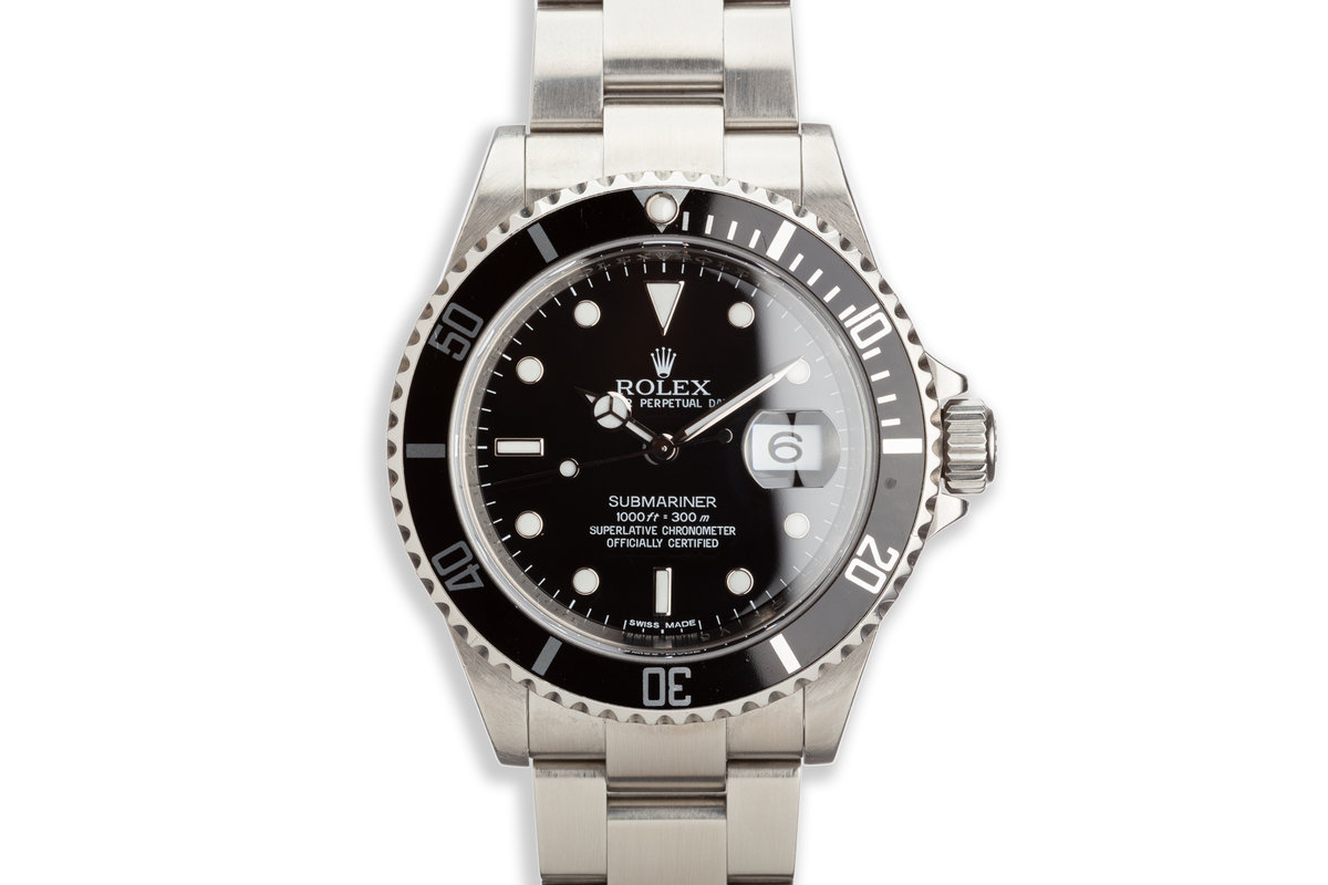 2009 Bezel Engraved Rolex Submariner 16610T photo, #0