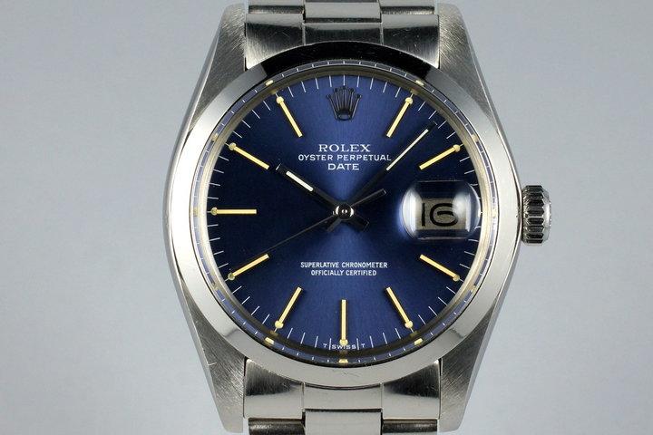 1978 Rolex Date 1500 Blue Dial photo