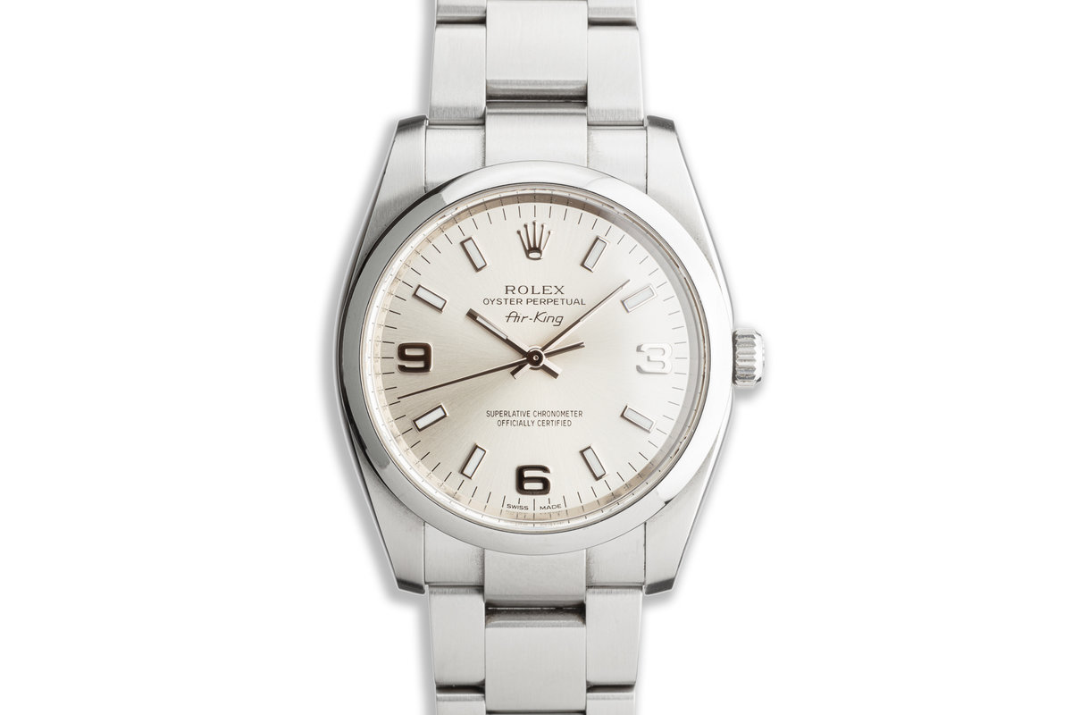 Oyster Perpetual 114200 Silver Dial photo, #0