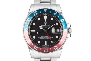 """1977 Rolex GMT-Master 1675 """"Pepsi"""" with Box and Service Papers photo"""