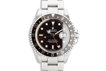 2000 Rolex GMT-Master II 16710 Black Bezel with Box & Papers photo
