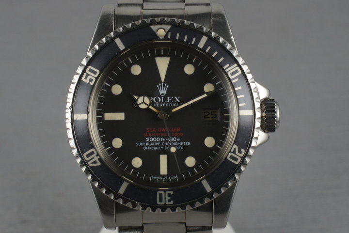 Rolex Double Red Sea Dweller 1665 with Beautiful Mark 4 dial photo