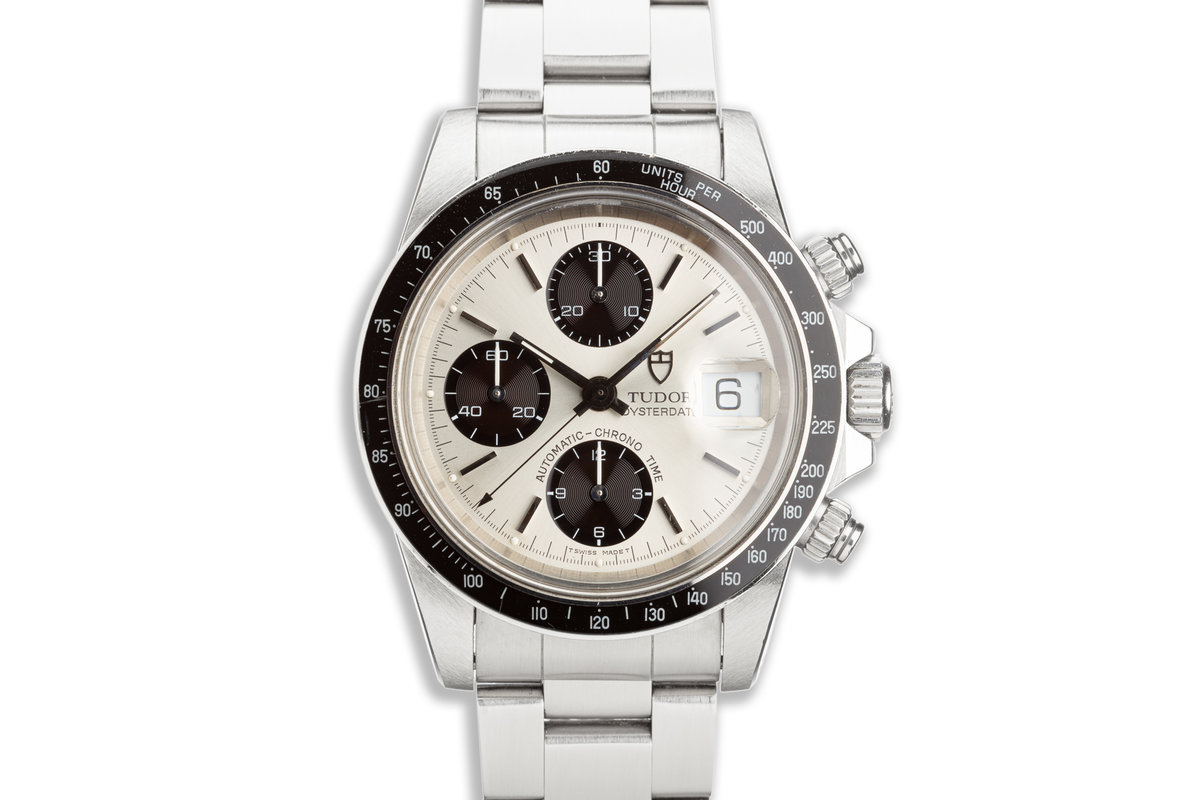 1994 Unpolished Tudor Chronograph Big Block 79160 Silver & Black Dial with Box photo, #0